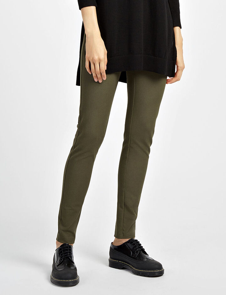 Legging en gabardine stretch, in ARMY, large | on Joseph