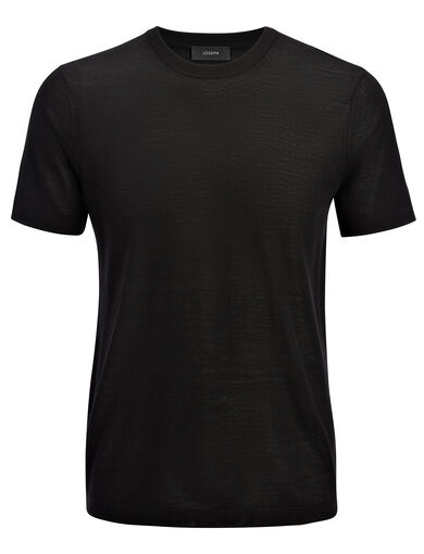 Light Merinos Tee, in BLACK, large | on Joseph