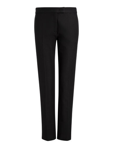 Gabardine Stretch Finley Trousers, in BLACK, large | on Joseph