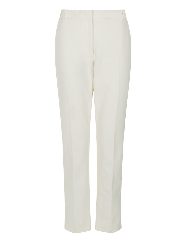 Joseph, Zoomy Gabardine Stretch Trousers, in OFF WHITE