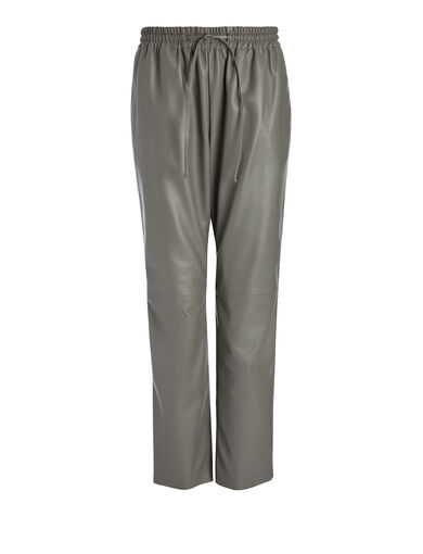 Nappa Leather Louna Trouser, in FATIGUE, large | on Joseph