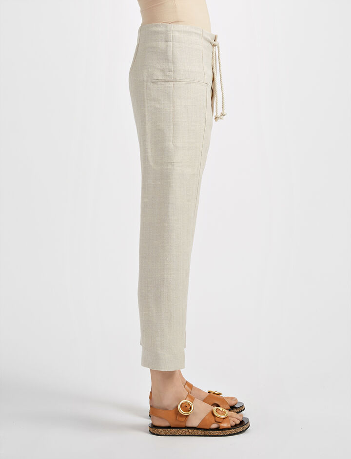 Hessian Suiting Ombria Trouser, in HEMP, large | on Joseph