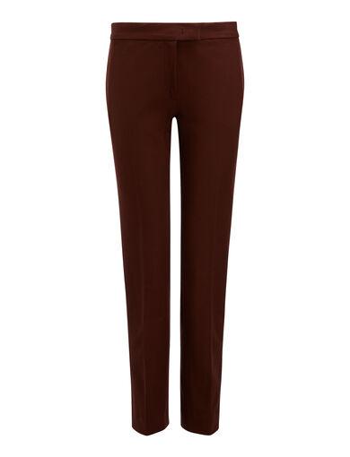 Gabardine Stretch Finley Trousers, in RUST, large | on Joseph