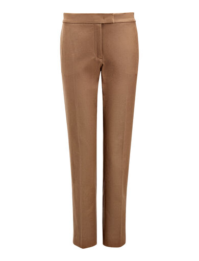 Pantalon Finley en gabardine stretch, in DARK FAWN, large | on Joseph