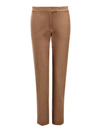 Gabardine Stretch Finley Trousers, in DARK FAWN, large | on Joseph