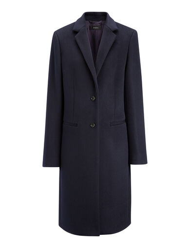 New Wool Coat Martin Coat, in NAVY, large | on Joseph