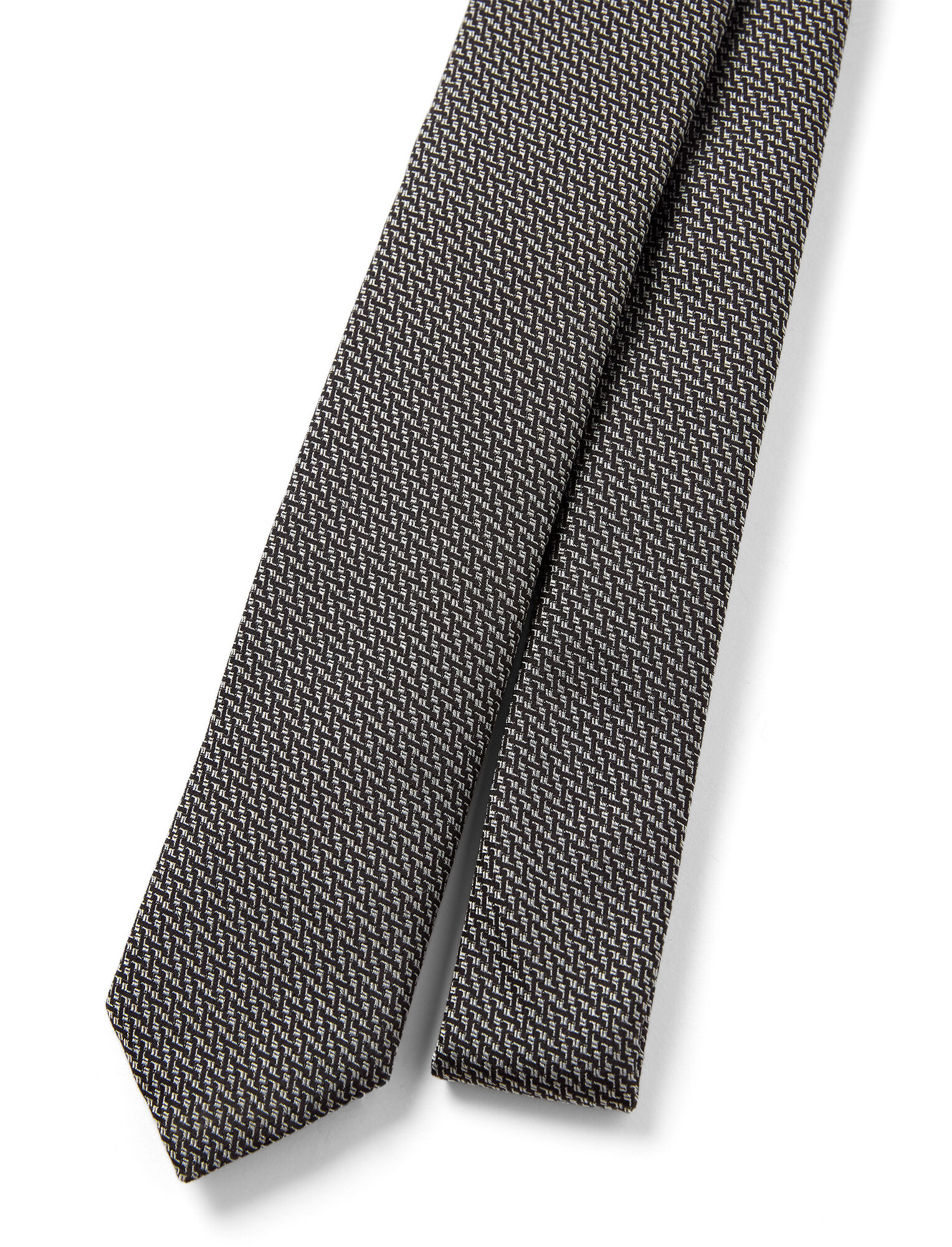 Joseph, Printed Silk Tie, in BLACK