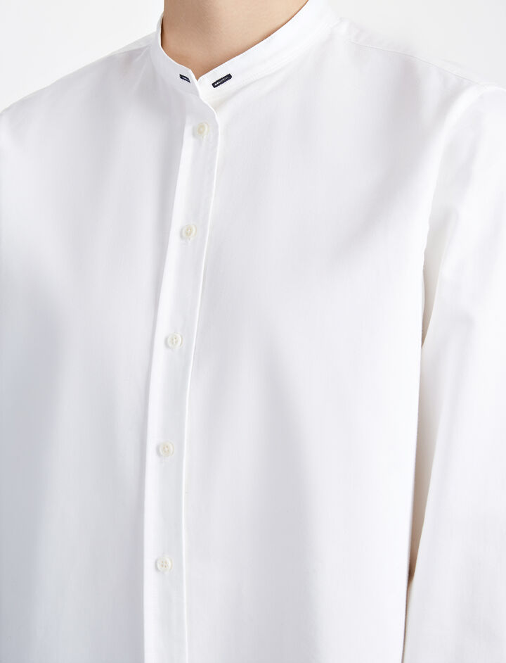 Chintz Poplin New Emile Blouse, in WHITE, large | on Joseph