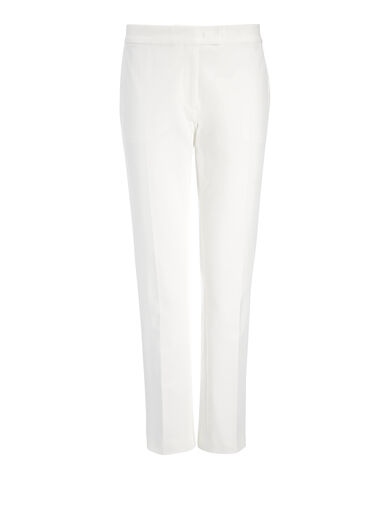 Gabardine Stretch Finley Trouser, in OFF WHITE, large | on Joseph