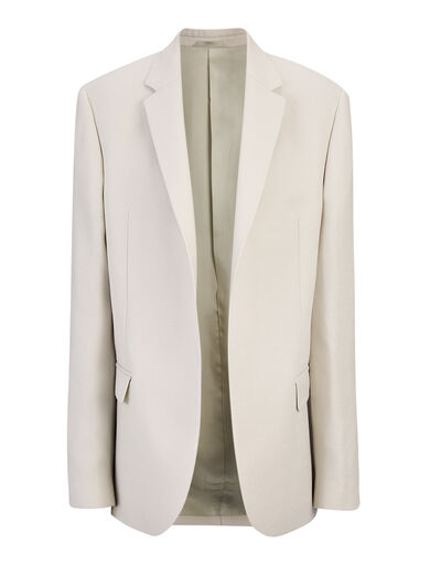 Metallic Twill Doka Jacket, in PUMICE, large | on Joseph