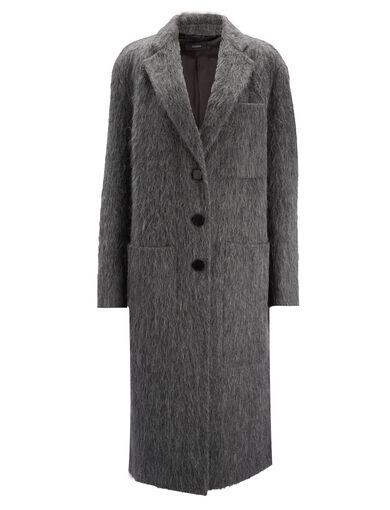 Double Alpaga Jimo Coat, in GRAPHITE, large | on Joseph