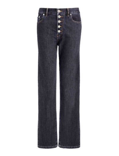 Denim Stretch Den Trousers, in DARK INDIGO, large | on Joseph