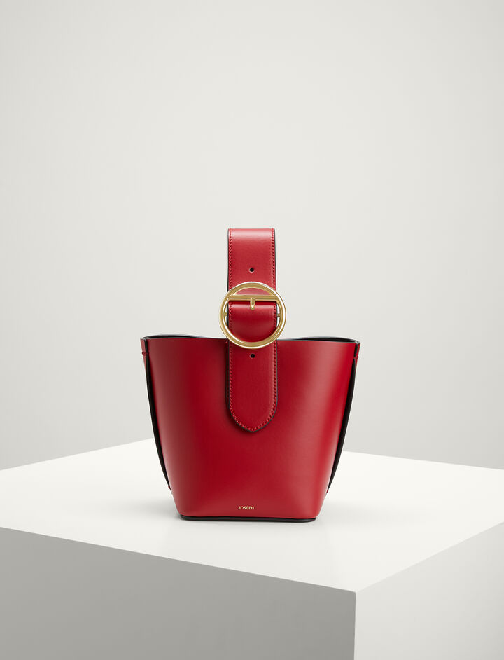 Joseph, Calf-leather Honore Bag , in RED/BLACK