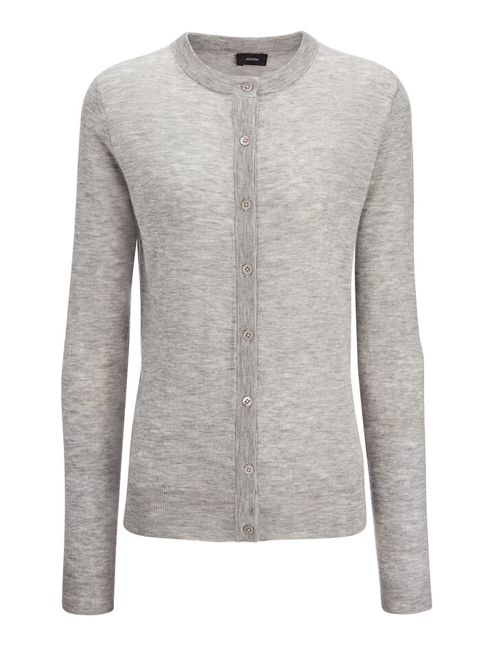Cardigan en cashair, in GREY CHINE, large | on Joseph