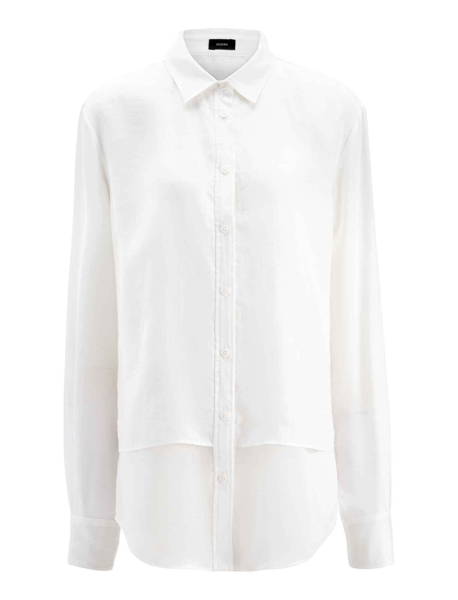 Ramie Voile Gracie Blouse, in WHITE, large | on Joseph