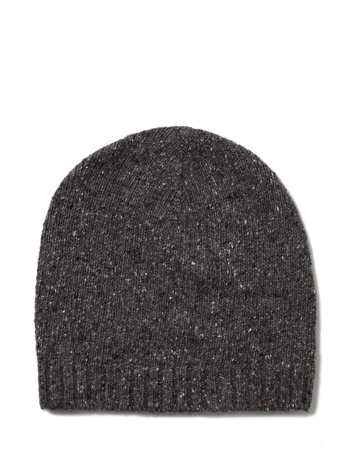 Shetland Knit Hat, in CHARCOAL, large | on Joseph