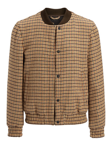 Dog Tooth Tay Coat, in OCHRE, large | on Joseph