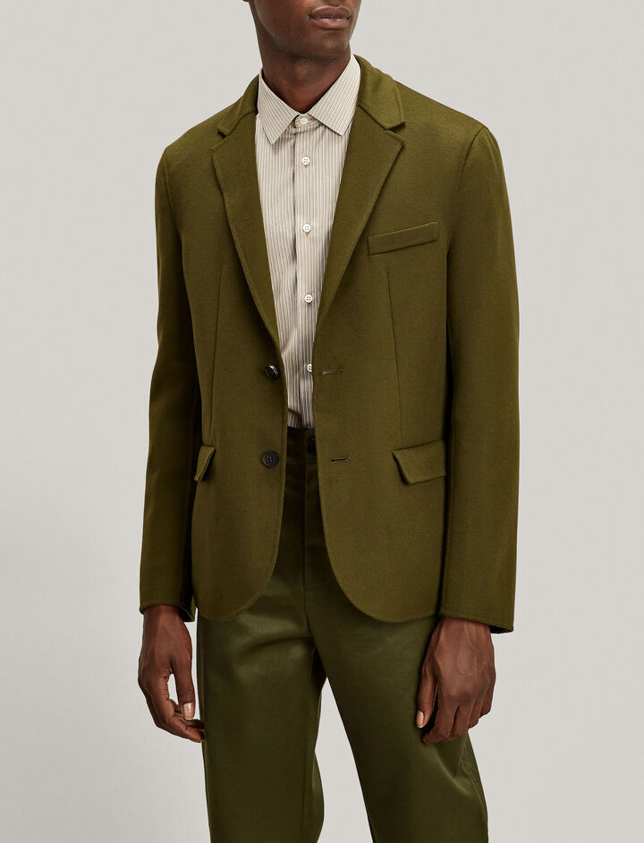 Joseph, Mel Luxe Double Wool Jacket, in MILITARY