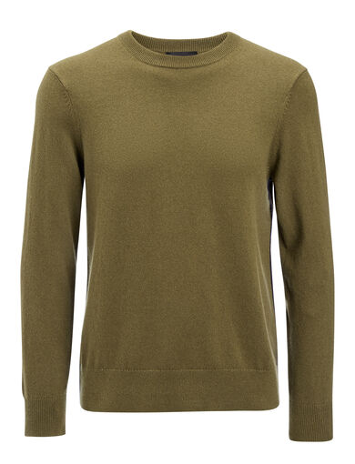 Mongolian Cashmere Sweater, in ARMY, large | on Joseph