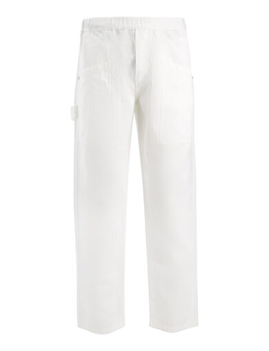 Pantalon Angus en lin et coton, in WHITE, large | on Joseph