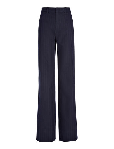 Pantalon Ferguson en gabardine stretch et jacquard, in NAVY, large | on Joseph