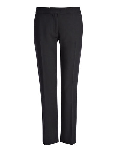 Pantalon Finley en laine stretch, in BLACK, large | on Joseph