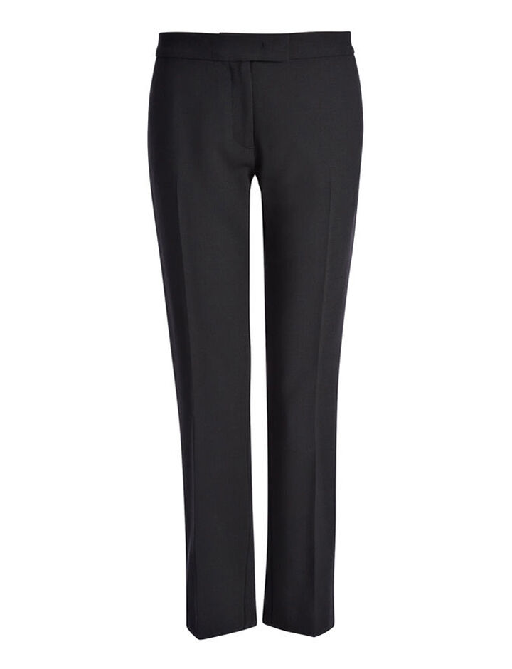 Stretch Wool Finley Trouser, in BLACK, large | on Joseph