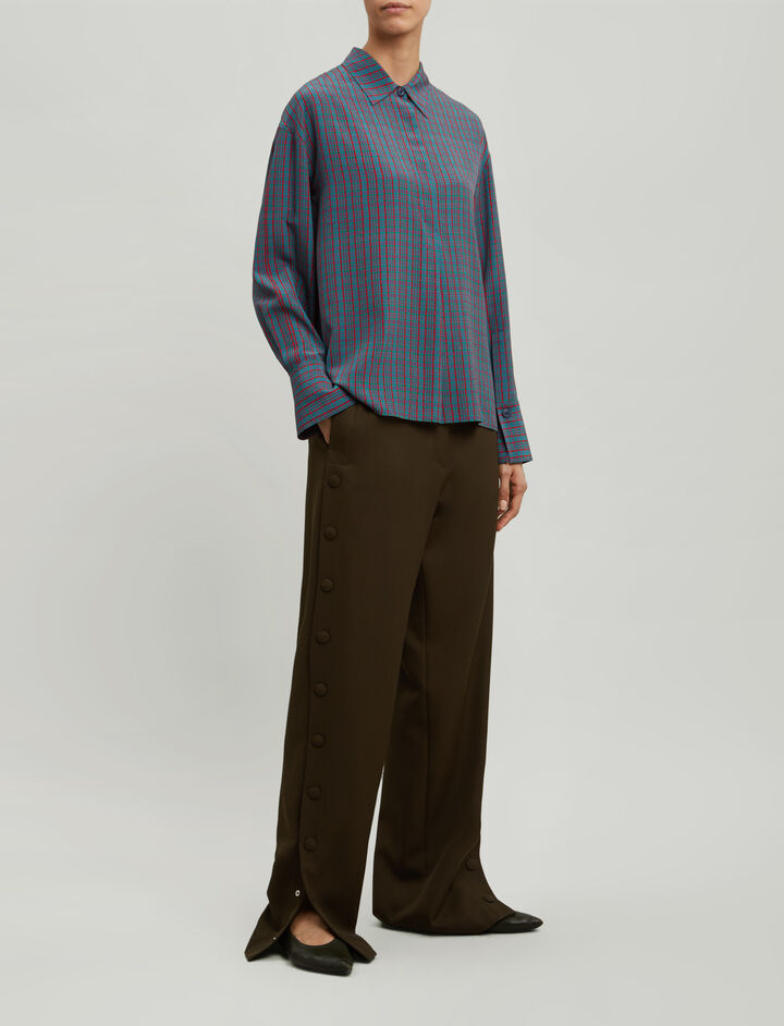 Joseph, Cart Micro Check Blouse, in MULTICOLOUR