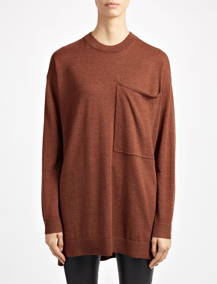 Fine Merinos Tunic, in RUST, large | on Joseph
