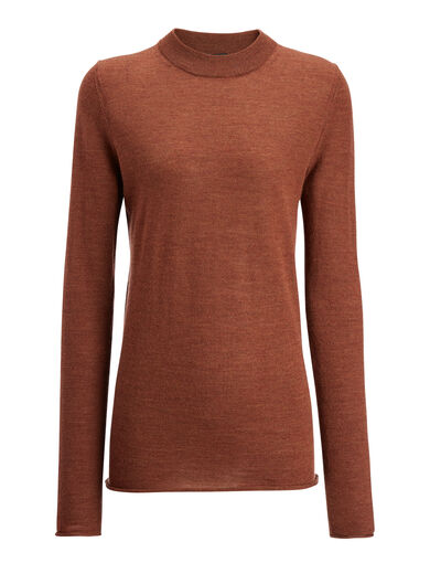 Fine Merinos Sweater, in RUST, large | on Joseph