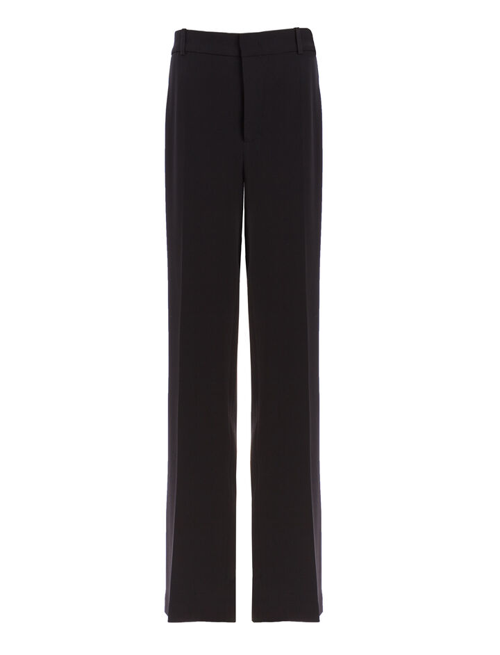 Viscose Cady Ferdy Trousers, in BLACK, large | on Joseph