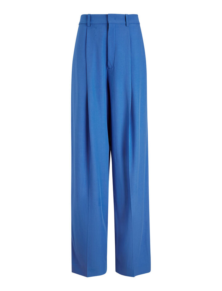 Joseph, Riska Wool Gabardine Trousers, in PLASTIC BLUE