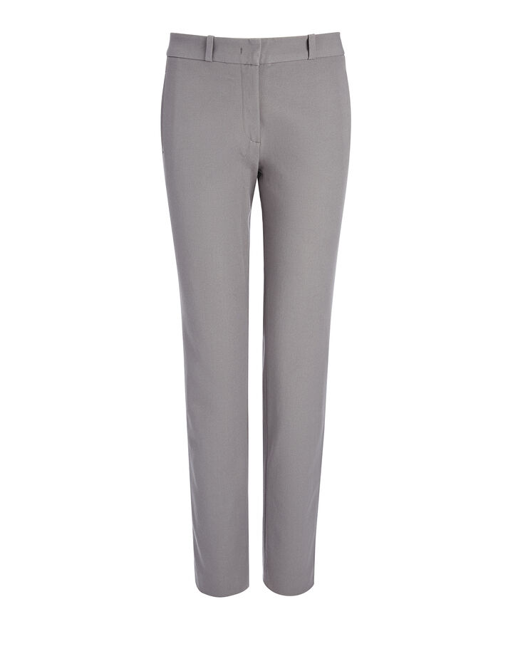 Gabardine Stretch New Eliston Trouser, in GREY, large | on Joseph