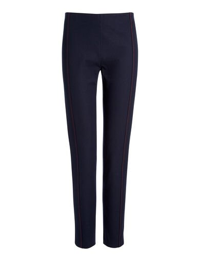 Gabardine Stretch Lenny Trousers, in NAVY, large | on Joseph