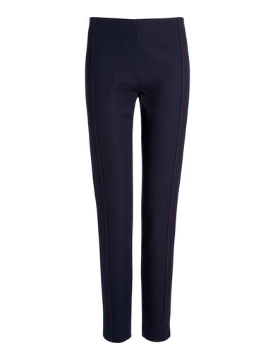 Pantalon Lenny en gabardine stretch, in NAVY, large | on Joseph