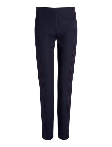 Gabardine Stretch Lenny Trousers, in NAVY, large | on Joseph