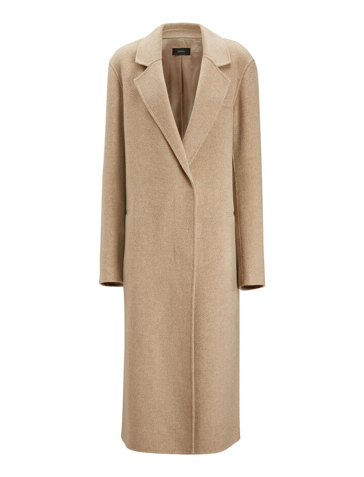 Joseph, Signe Pure Cashmere Coat, in MARBLE