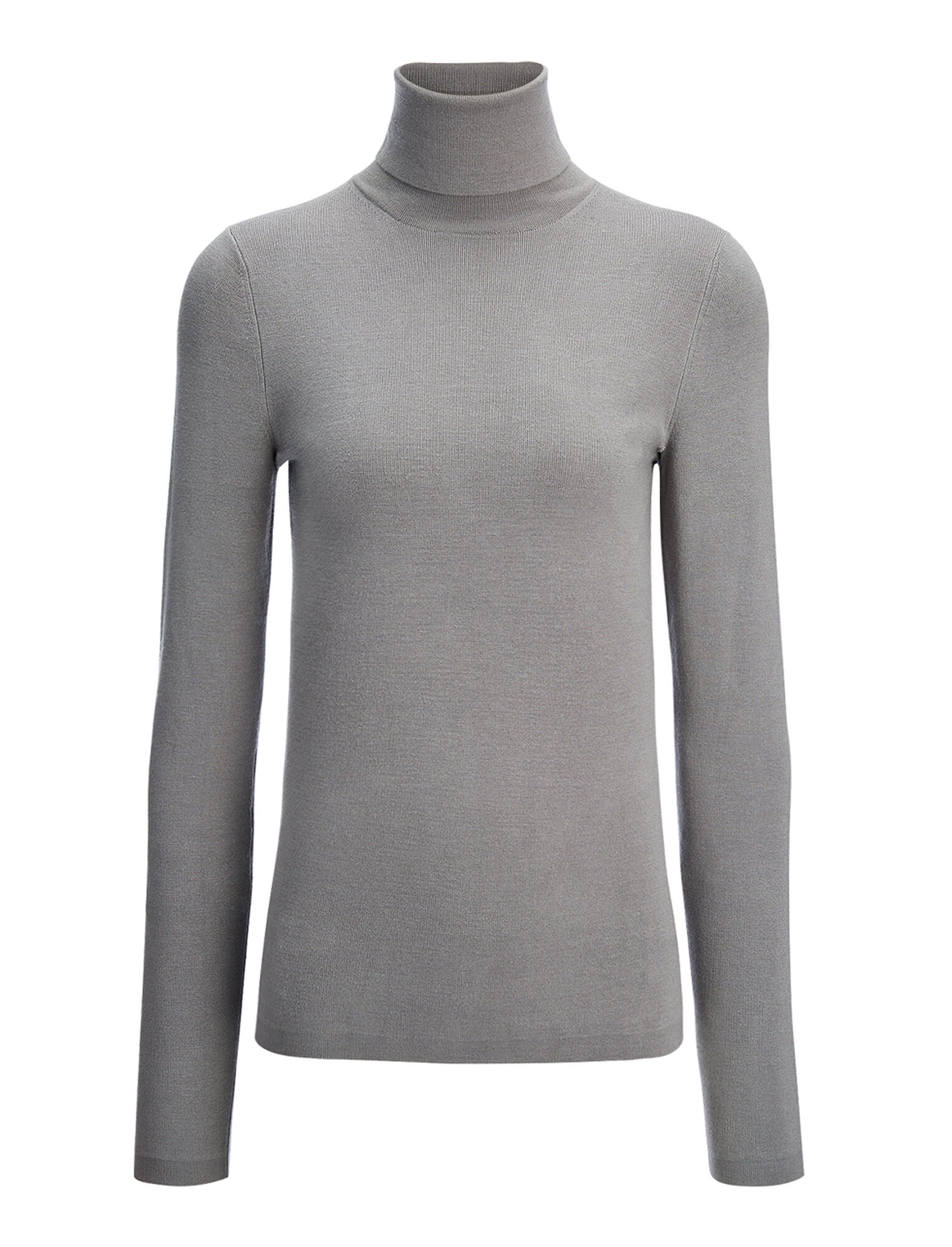 Joseph, Silk Stretch Roll Neck, in MARBLE