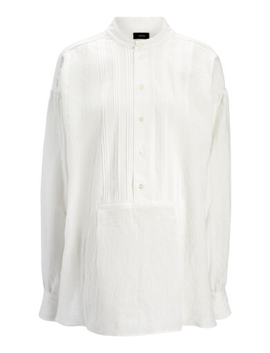 Blouse Maine en lin vintage, in WHITE, large | on Joseph