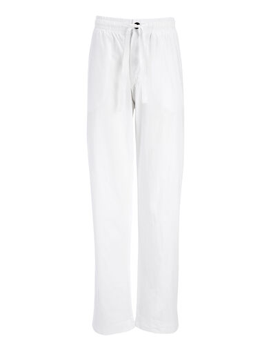 Garment Dyed Molleton Pant, in WHITE, large | on Joseph
