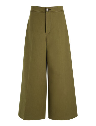 CottonWoolTwill Fitz Trousers, in ARMY, large | on Joseph