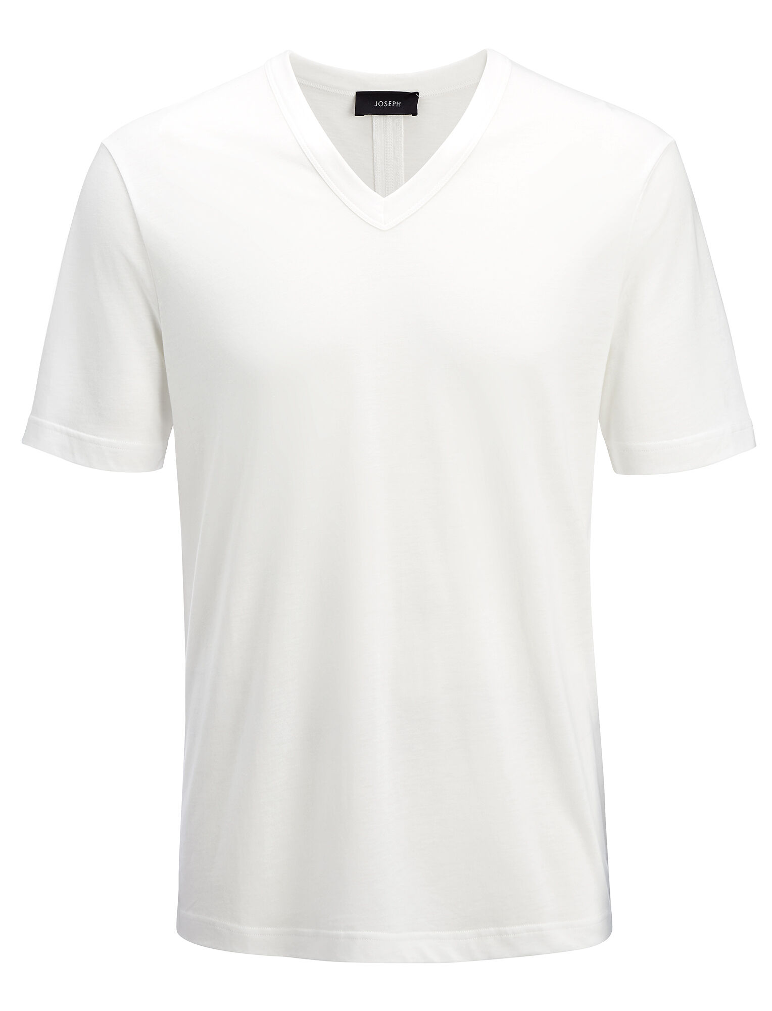 Tee shirt col V en jersey de lyocell, in WHITE, large | on Joseph
