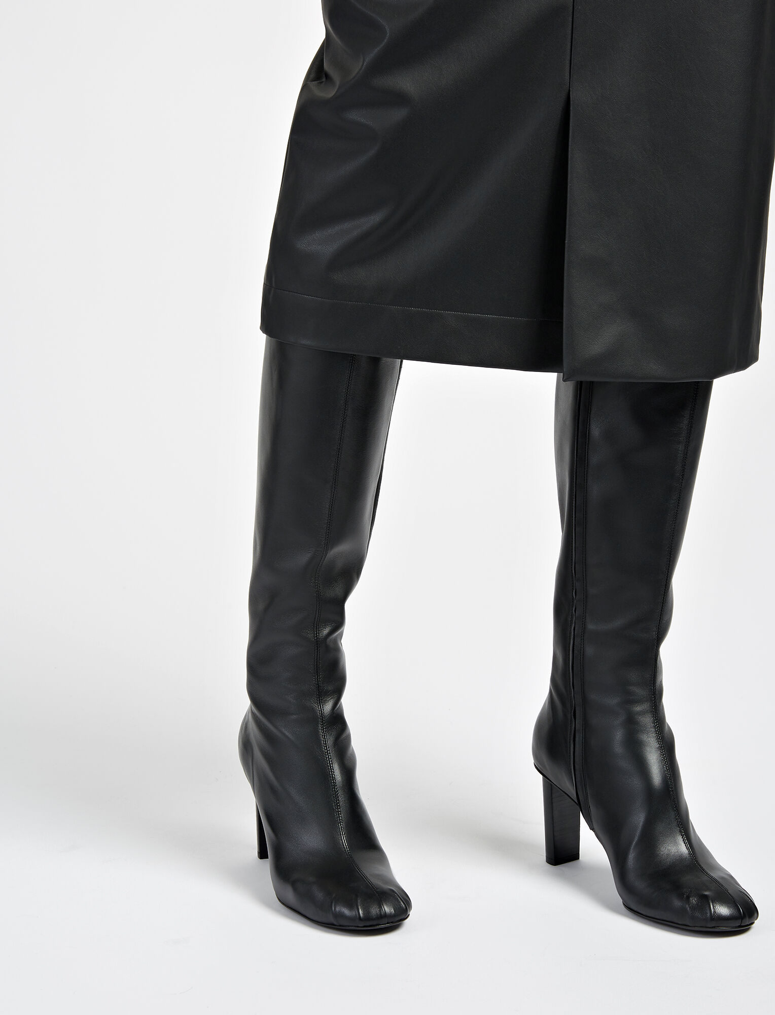 Nappa Leather Moulin Boot, in BLACK, large | on Joseph