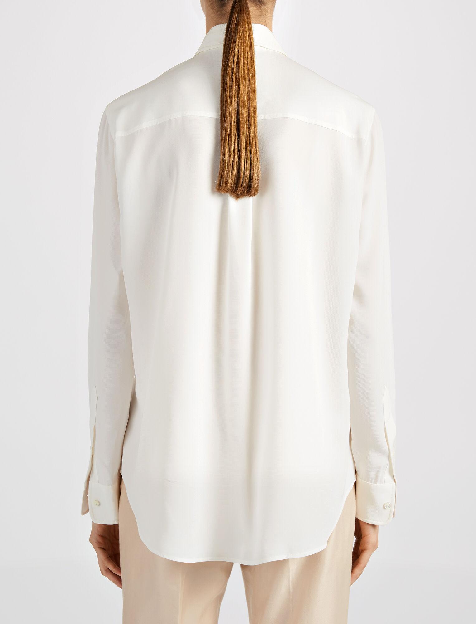 Silk Rib New Garcon Blouse, in OFF WHITE, large | on Joseph