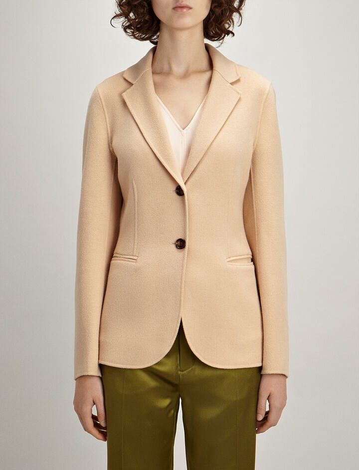 Light Double-Cashmere Archi Coat , in CAMEL, large | on Joseph