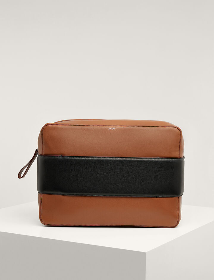 Joseph, Calf-leather Honore Bag , in TAN/BLACK