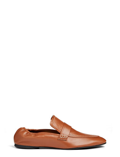 Matt Nappa Leather Souk Shoes, in DARK BROWN, large | on Joseph