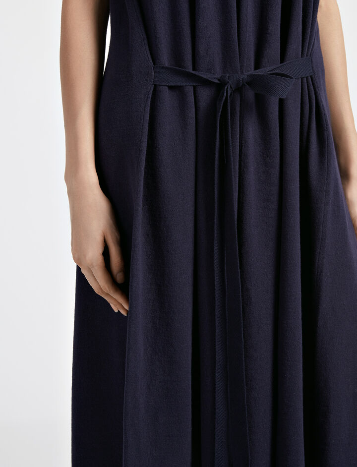 Robe April en tricot calico, in NAVY, large | on Joseph