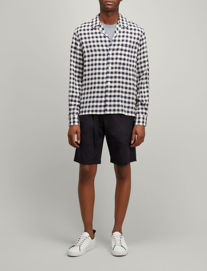 Joseph, Gingham Jacquard Dixon Shirt, in NAVY