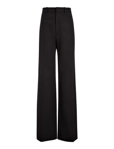Pantalon Ferguson en gabardine stretch, in BLACK, large | on Joseph